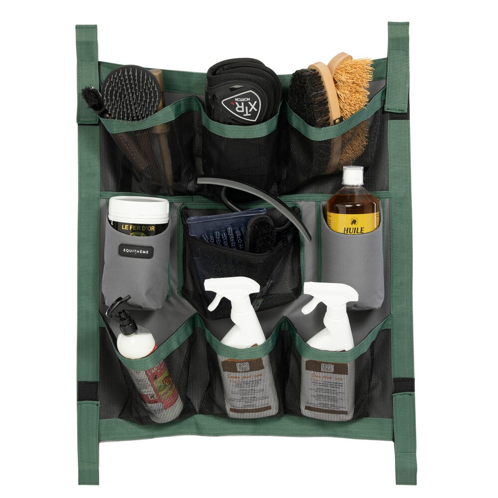 Equitheme Stable Organiser in Grey/Green
