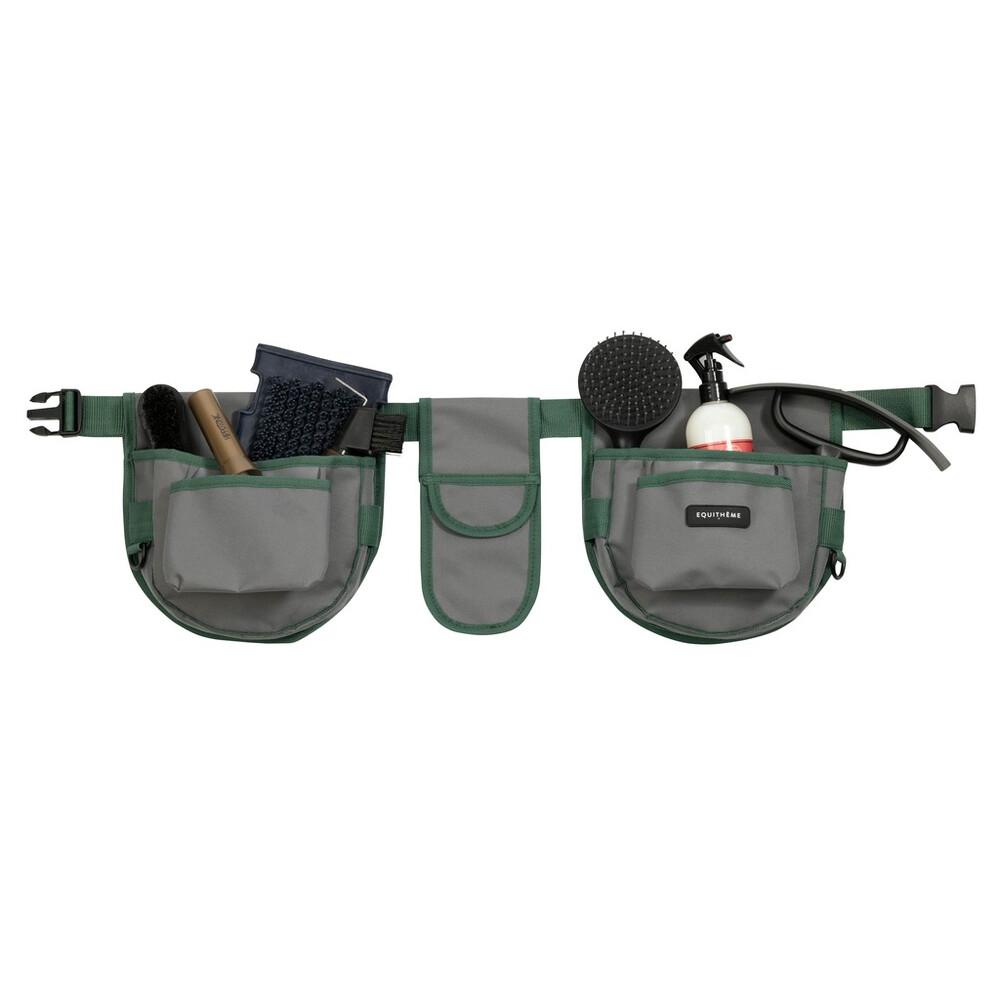 Equitheme Grooming Belt in Grey/Green