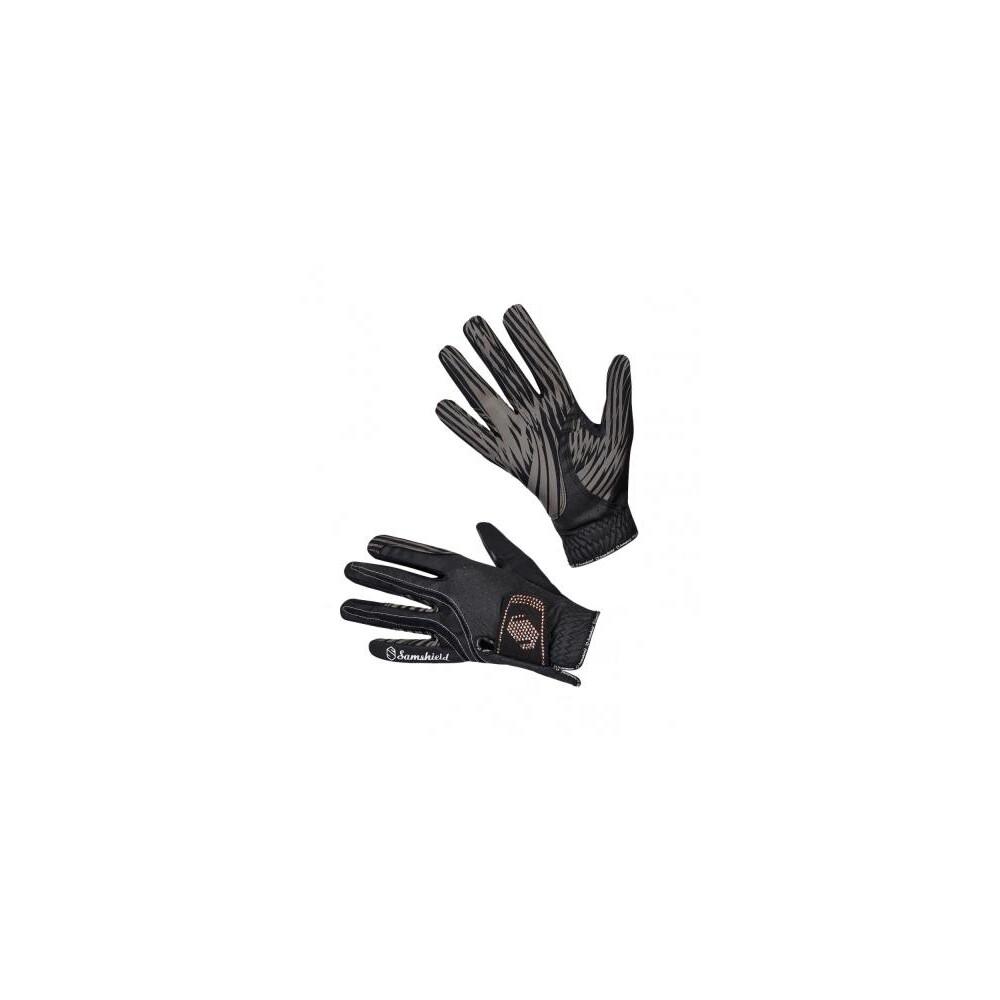 Samshield Gants V-SKIN SWAROVSKI Glove - Black/Pink Gold in Black/Pink Gold