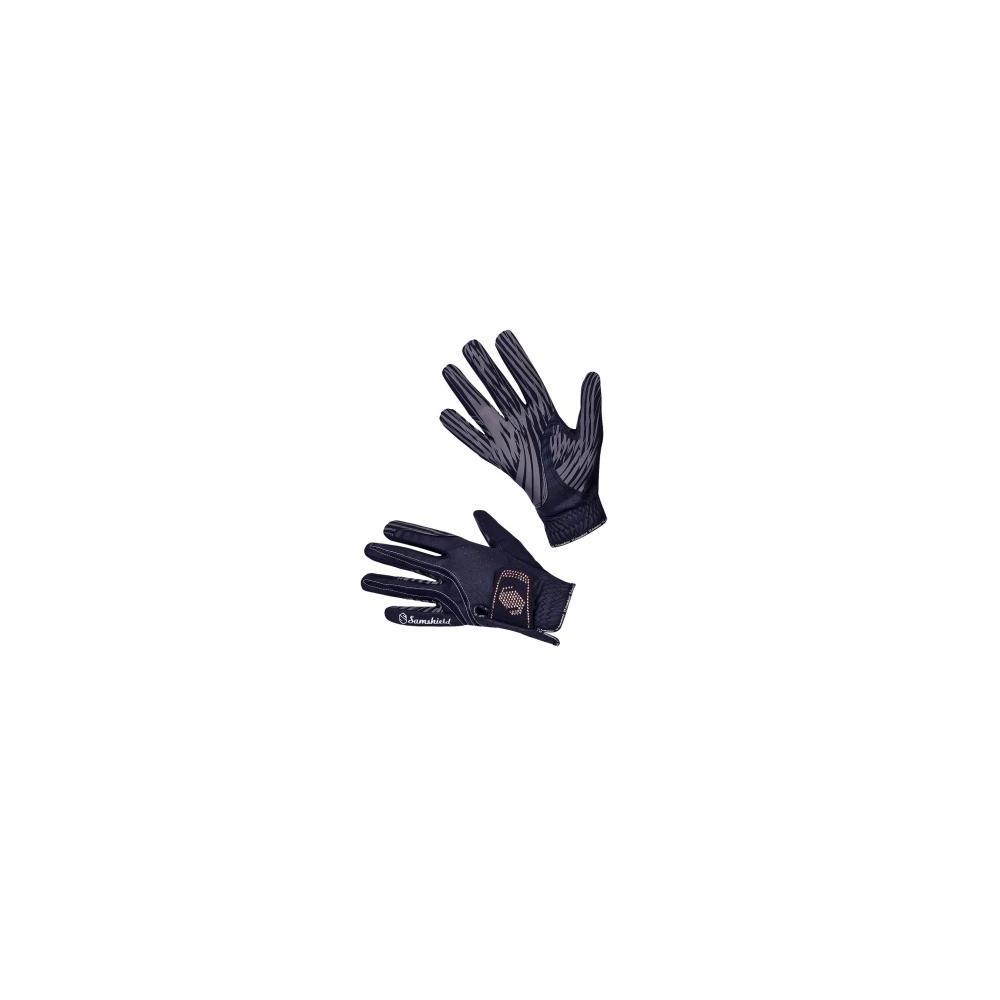 Samshield Gants V-Skin SWAROVSKI Glove - Blue/Pink Gold in Blue/Pink Gold