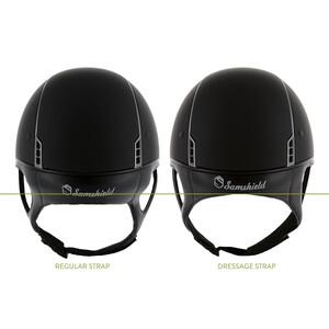 Samshield Shadow Glossy Metalic Black with Dressage Chin Strap