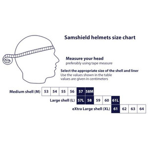 Samshield Shadowmatt Helmet Adult Blue (Titanium)