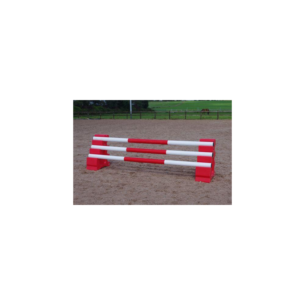 Classic Jumps 3 Band Pole in Red