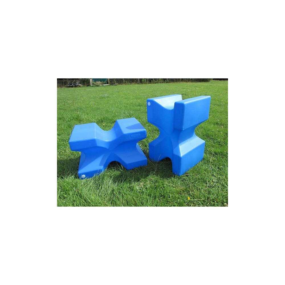 Classic Jumps - X Block (set of 2) in Blue