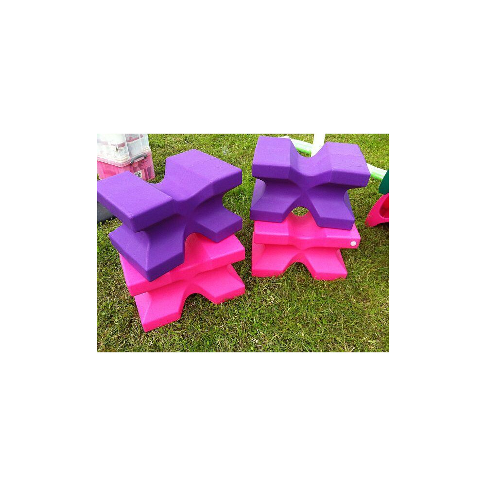 Classic Jumps - X Block (set of 2) in Purple