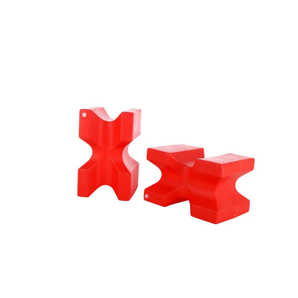 Classic Jumps - X Block (set of 2) in Red