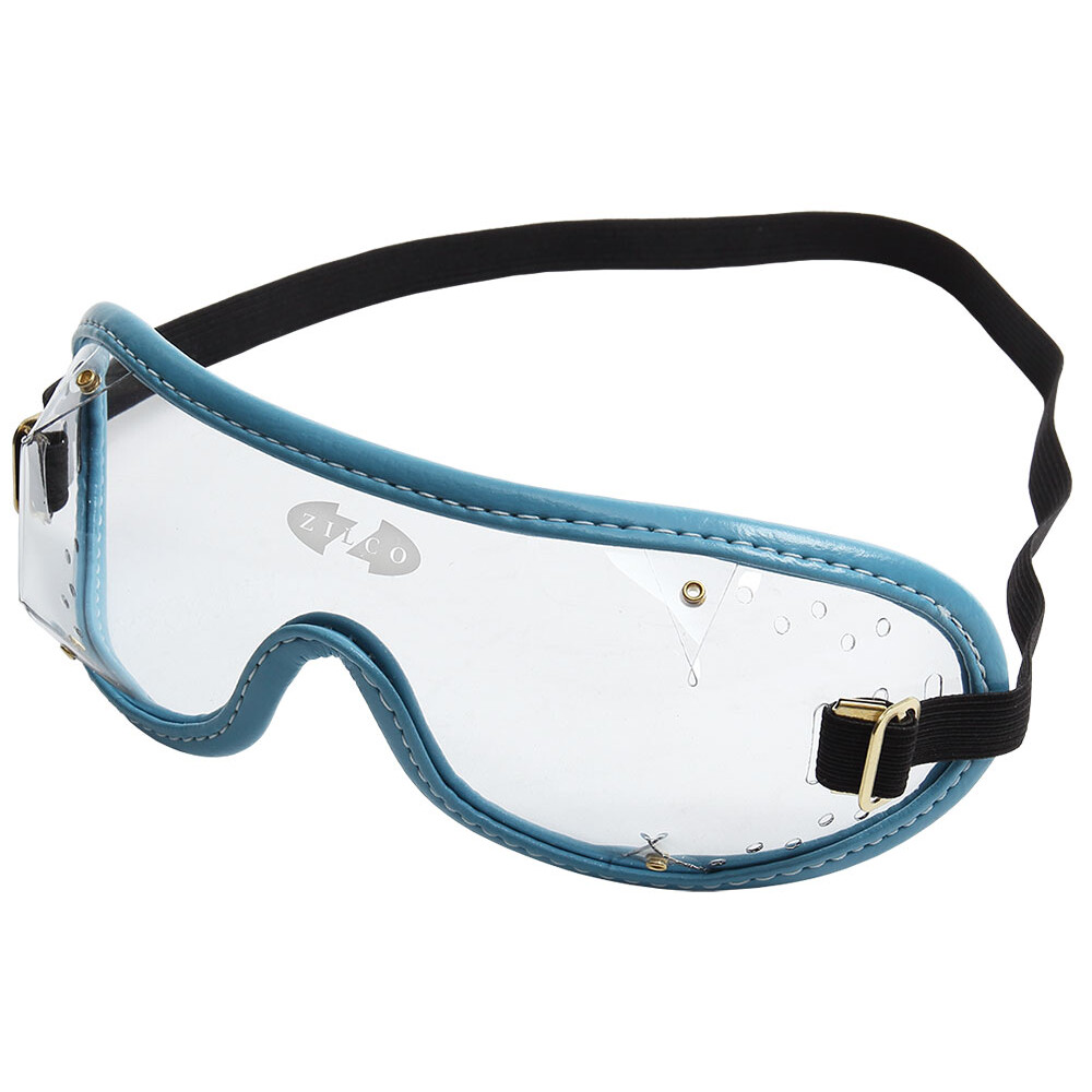 Zilco Goggles Clear Lenses in Clear/Blue Trim