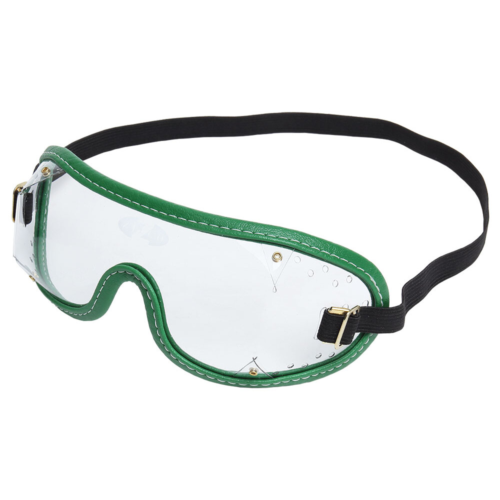 Zilco Goggles Clear Lenses in Clear/Green Trim