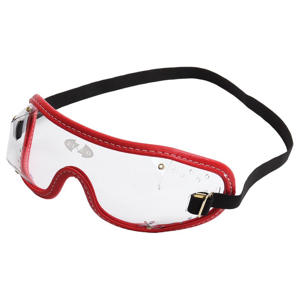 Zilco Goggles Clear Lenses in Clear/Red Trim