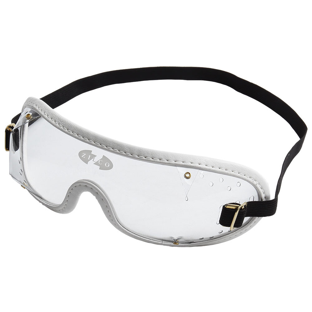 Zilco Goggles Clear Lenses in Clear/White Trim