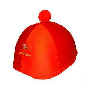 Ornella Prosperi Lycra Hat Covers with Pom-Pom in Orange