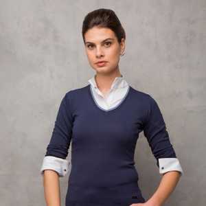Alessandro Albanese Classic Lady Sweater in Navy