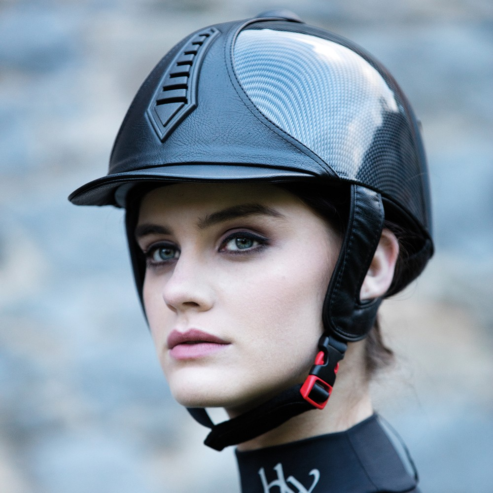 Horseware Rambo Rambo Helmet Classic in Carbon Shine