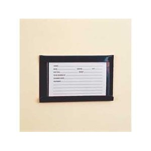 Stubbs S26 Large Stud Card Or Stable Name Holder (S26) 6x4: Black in Black
