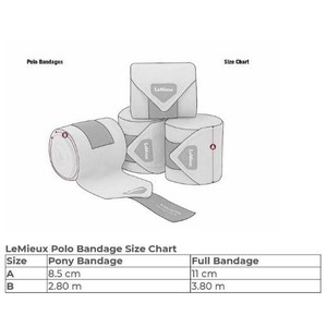 LeMieux Glace Polo Bandages- Navy Large set of 4