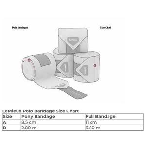 LeMieux Glace Polo Bandages- Sage Large set of 4