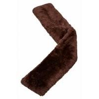 LeMieux Lambskin Slip On Jumping Girth Sleeves in Dark Brown