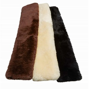 LeMieux Lambskin Slip On Jumping Girth Sleeves in Natural