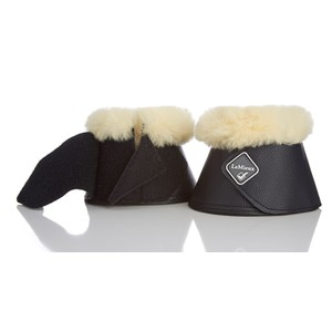 LeMieux Lambskin Wrap Round Over Reach Boots - Black