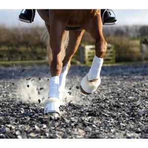 LeMieux Lambskin Wrap Round Over Reach Boots - White