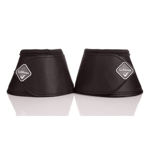 LeMieux Leather Wrap Round Over Reach Boots - Black