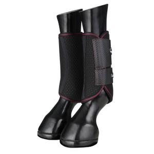 LeMieux Carbon Mesh Wrap Boots  - Mulberry