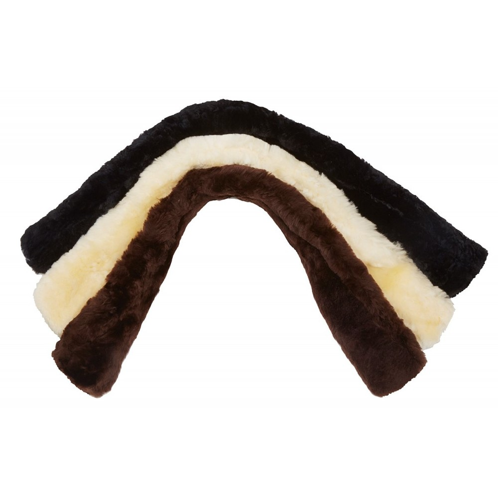 LeMieux Lambskin Dressage Slip On Girth Sleeve in Brown