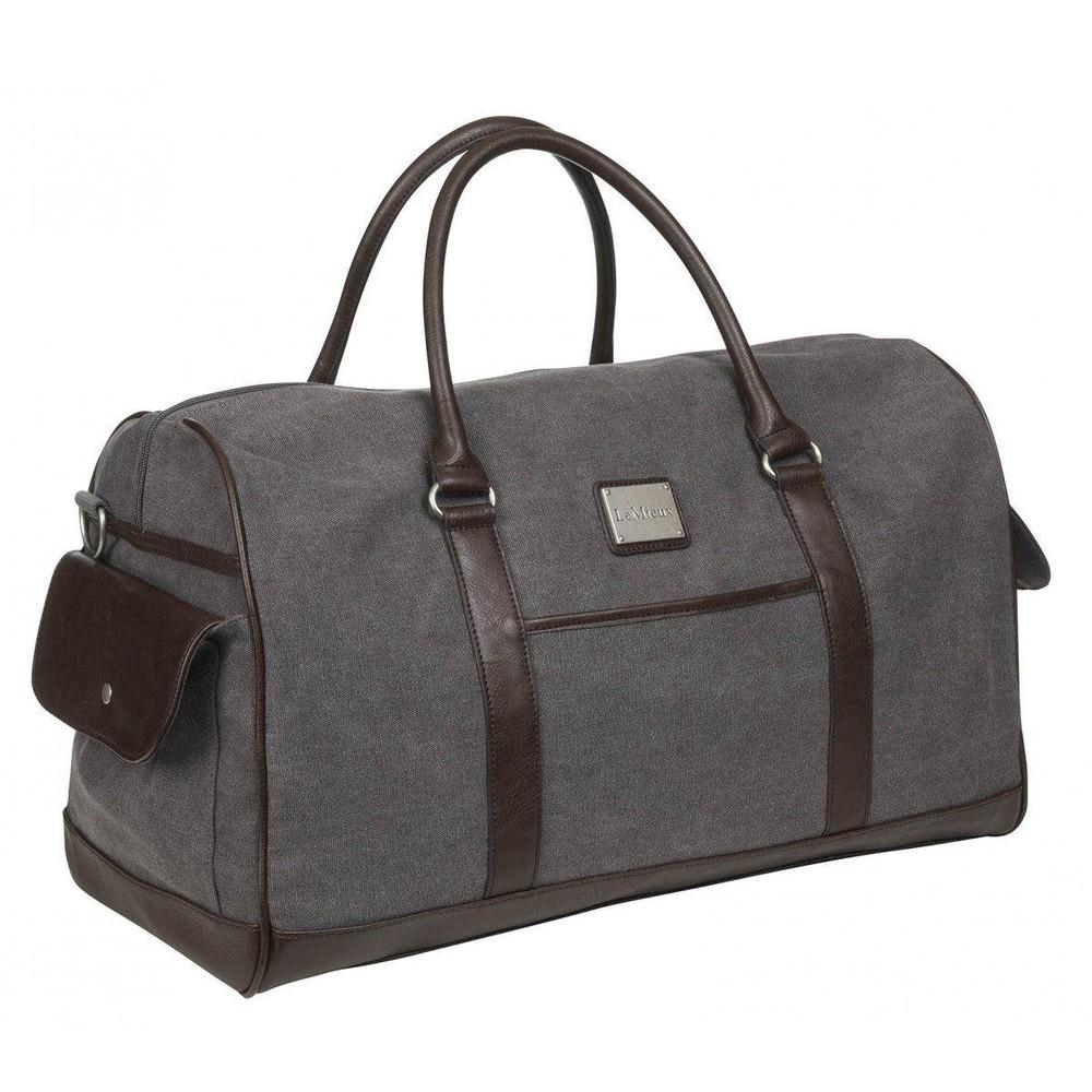 LeMieux Luxury Canvas Duffle Bag - Grey in Grey