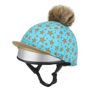 LeMieux Mini  Pom Pom Hat Silk - Azure in Azure