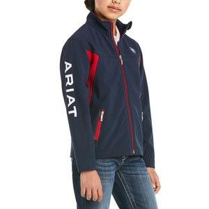 Ariat Youths Team Softshell Jacket in Navy