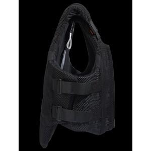 Airowear Teen AirMesh II Body Protector - Short - Black in Black