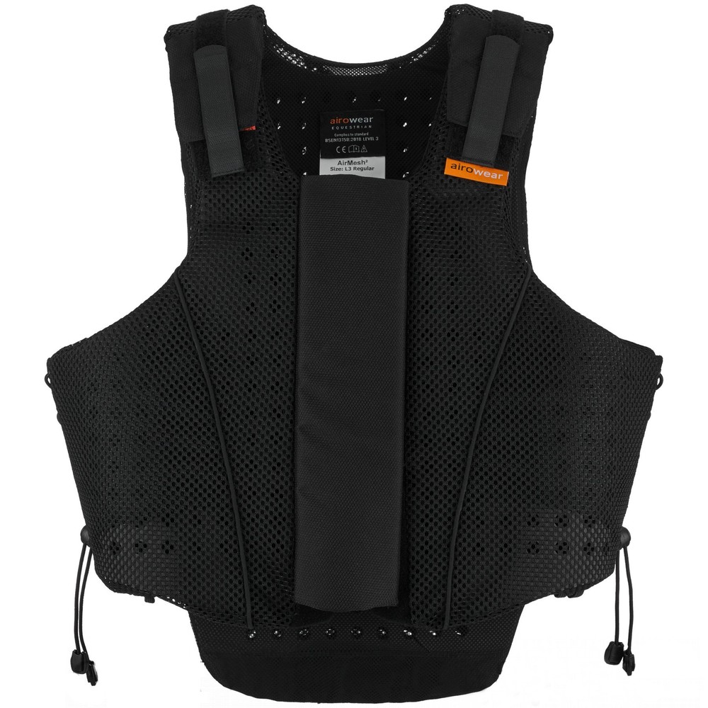 Airowear Teen AirMesh II Body Protector - Regular - Black in Black