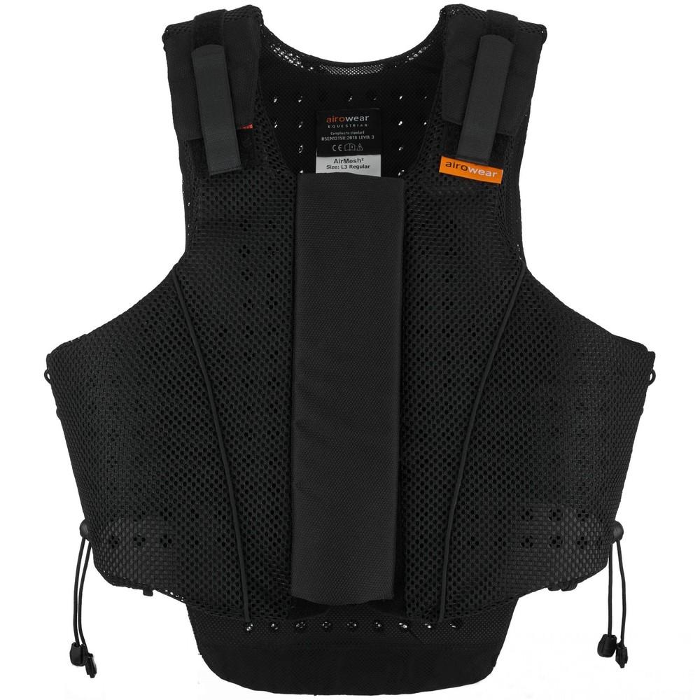Airowear Womens AirMesh II Body Protector - Short - Black in Black