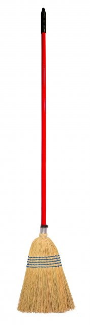 Red Gorilla Corn Broom Standard - Red in Red