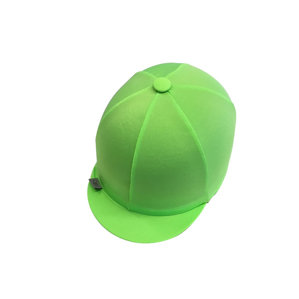 Capz Lycra Hat Cover Plain in Lime Green