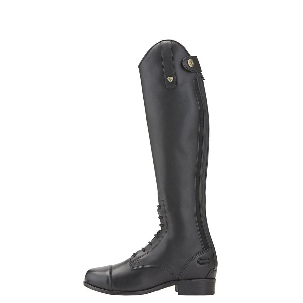 Ariat Youth Heritage Contour Field Zip Black Short Medium Boot in Black