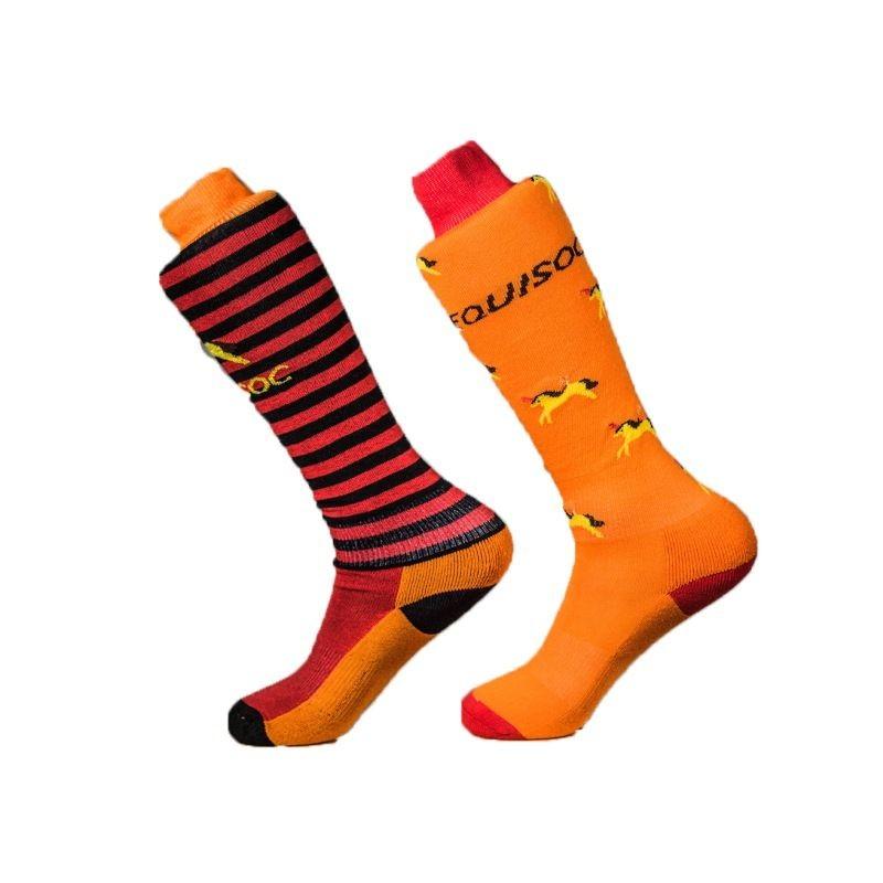 Equisoc Uni 5 -  Orange/Red in Orange/Red