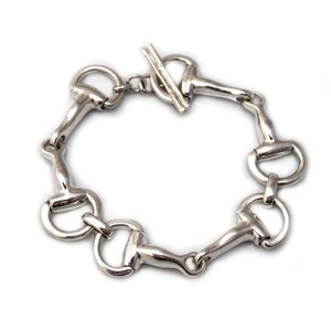 HiHo Silver Classic Sterling Silver Snaffle Bracelet