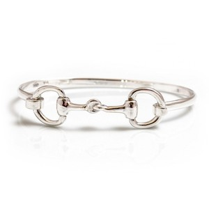 HiHo Silver Exclusive Sterling Silver Double Snaffle Bracelet in Silver