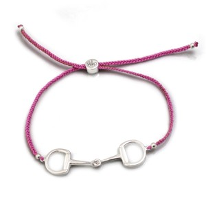 HiHo Silver Snaffle Friendship Bracelet - Pink