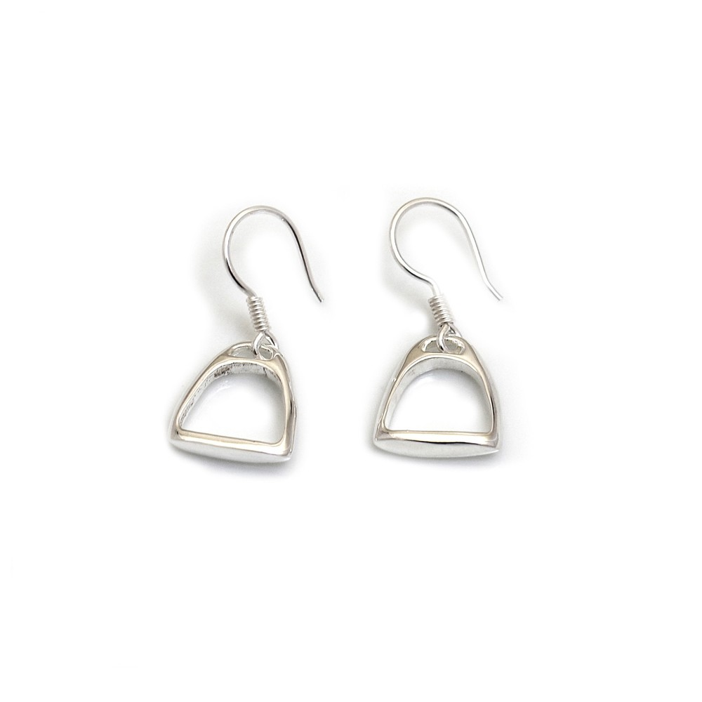 HiHo Silver Sterling Silver Stirrup Earrings