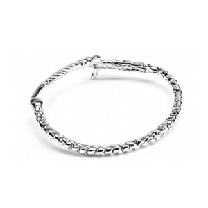 HiHo Silver Sterling Silver whip all round bangle