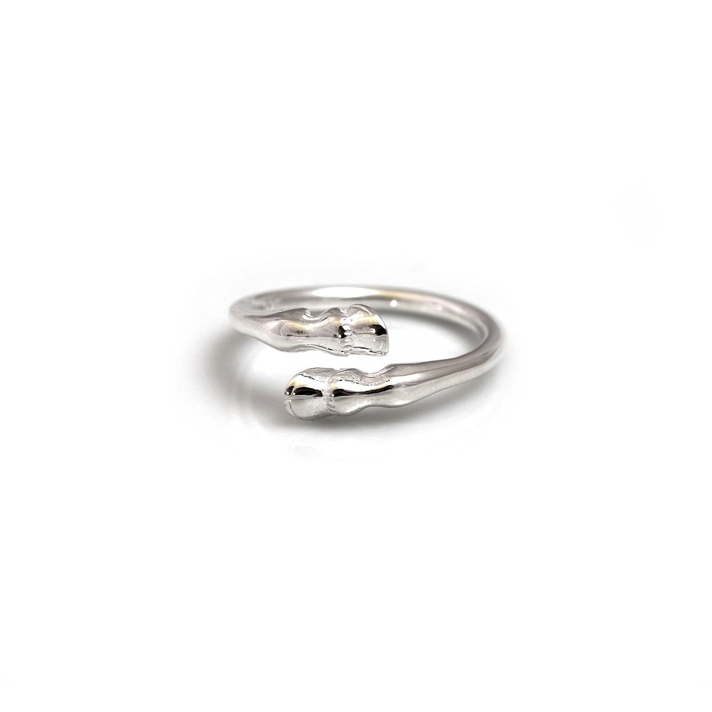 HiHo Silver Sterling Silver Hoof Ring in Silver