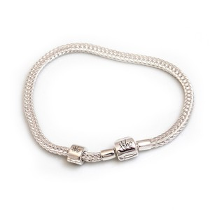 HiHo Silver Sterling Silver Foxtail Bracelet plus stop bead in Silver