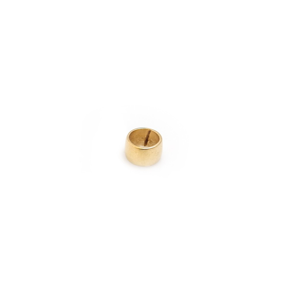 HiHo Silver Sterling silver yellow gold plated roller bead