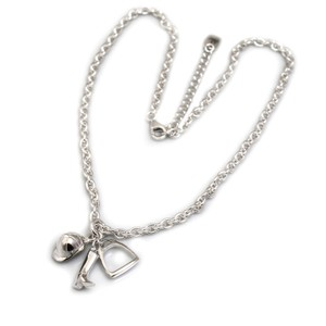 HiHo Silver Sterling Silver Fob Necklace with Equestrian Charms