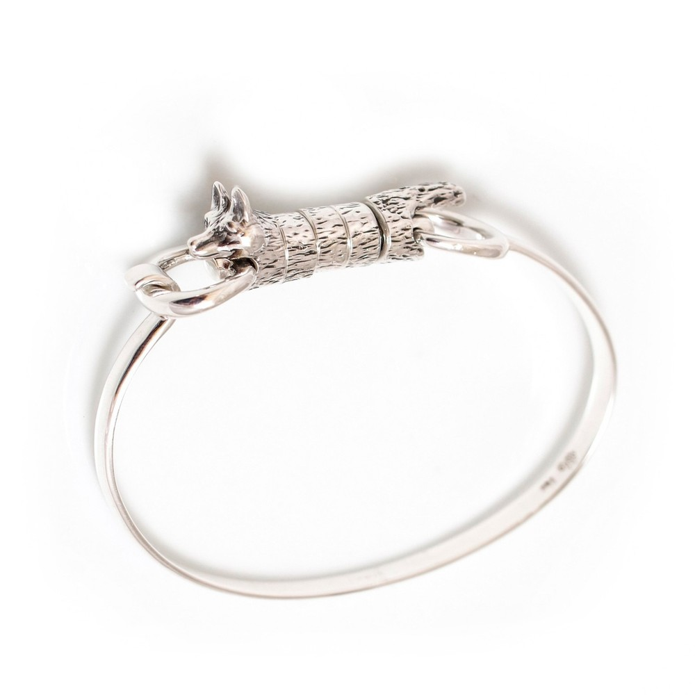 HiHo Silver Exclusive Sterling Silver Foxy Roller Bangle