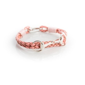 HiHo Silver Exclusive Equestrian Sterling Silver Snaffle Leather Bracelet - Pink in Pink