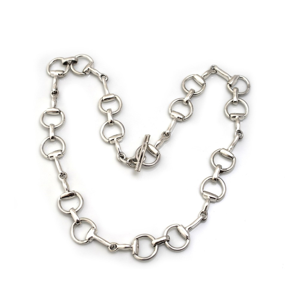 HiHo Silver Sterling Silver Snaffle Necklace