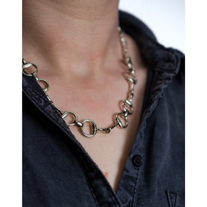 HiHo Silver Sterling Silver Snaffle Necklace Silver